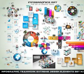 Infographic teamwork Mega Collection: brainstorming