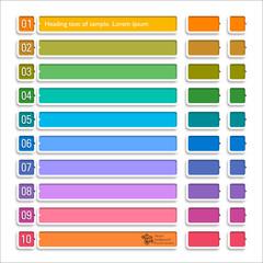 Infographics Web Banner & Label Design #Arrow Button