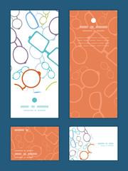 Vector colorful glasses vertical frame pattern invitation