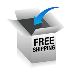 Free Shipping 3D Box