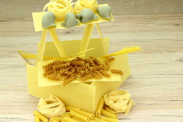 House with pasta