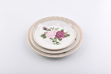 Plate with decorations