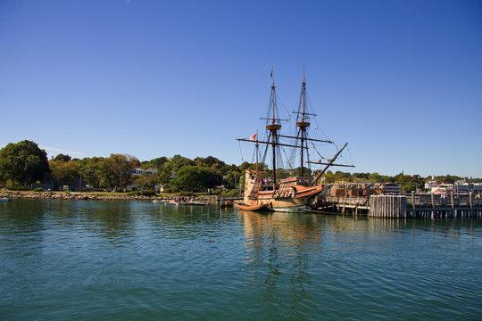 Mayflower in Plymout port