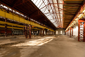 Electricity distribution hall in metal industry