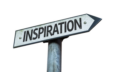 Inspiration sign isolated on white background