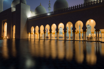 detail of Sheikh Zayed Grand Mosque Abu Dhabi UAE