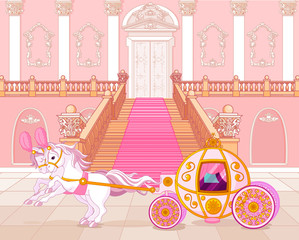 Fairytale pink carriage