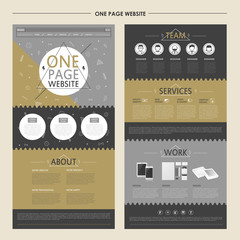 stylish one page website template design