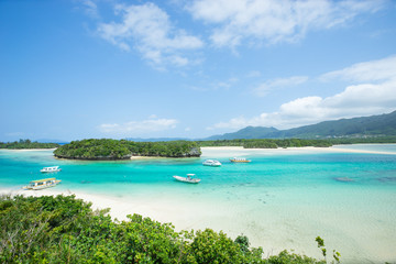 Beautiful Tropical Lagoon beach paradise of Okinawa