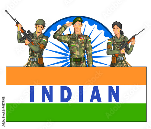 Indian Army Showing Victory Of India Stock Image And