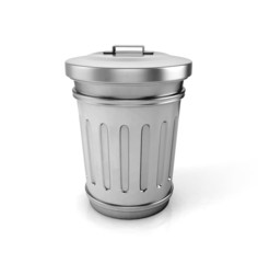 trash can. 3d illustration