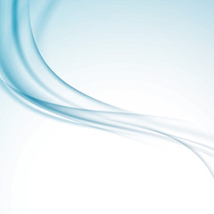 Modern abstract blue swoosh wave certificate background