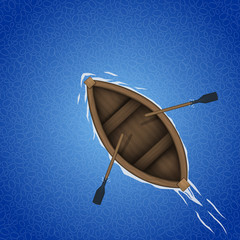 Rowing boat background