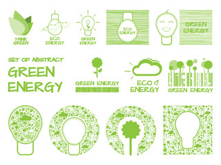Set of Abstract Green Energy