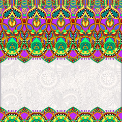 ornamental floral folkloric background for invitation
