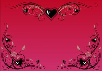 Filigrane Ranken mit Herzen. Passend zum Valentinstag.