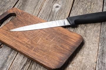 Breadboard with knife