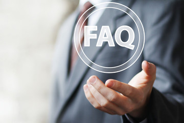 Business button FAQ sign connection icon web communication
