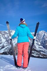 Ski, winter, snow, skiers, sun and fun