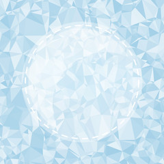 Blue Light Polygonal Mosaic Background, Vector illustration