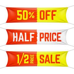 Half price textile banners