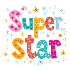 Super star decorative lettering type design
