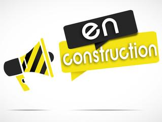 mégaphone jaune/noir : en construction