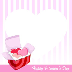 Love Boxes . Valentine 's day background