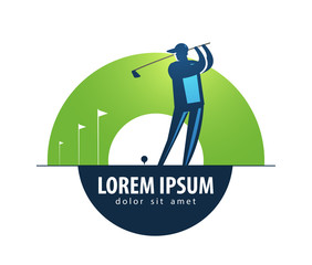 Golf vector logo design template. sports or game icon.