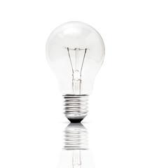 Lampe auf weissem Hintergrund