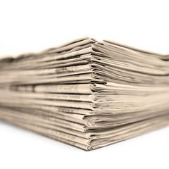 Schöner Stapel Zeitungen