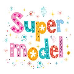 Super model decorative lettering type design