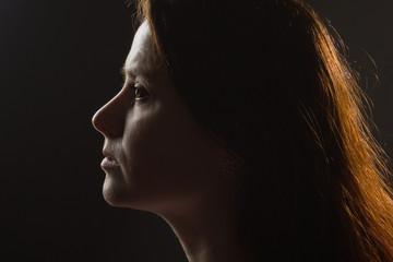 portrait girl in profile