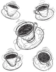 Coffee cup sketches