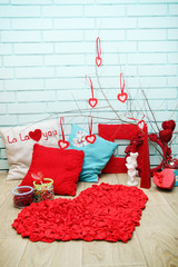 Festive decorations for Valentine's Day