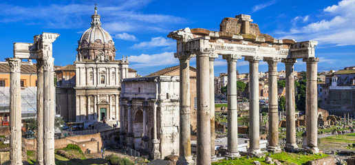 Canvas Prints Rome Ancient Ruins of Rome - Imperial Forum - Italy