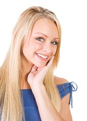 Pretty Girl Smiling To Camera