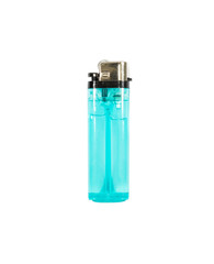 blue lighter isolated