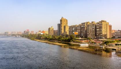 View of Cairo from the Al Munib Bridge - Egypt