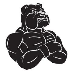 Bulldog strong mascot Tattoo