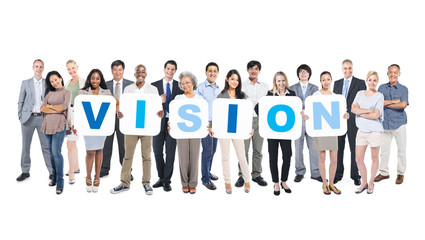 Vision Business People Team Teamwork Success Strategy Concept