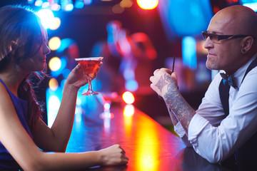 Talking in the bar