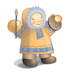 Vector illustration siberian child