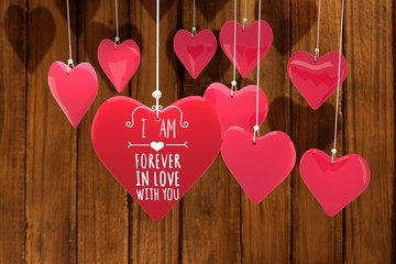 Wall Mural - Composite image of valentines message