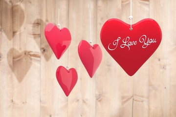 Wall Mural - Composite image of i love you