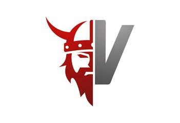 Viking icon vector logo