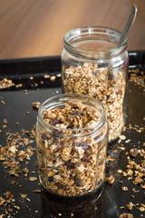 Homemade Granola with Seeds, Dried Cherries and Raisins