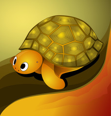 Vector illustration of turtle