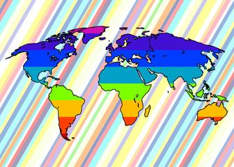 Le monde arc-en-ciel.