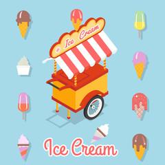 Flat ice cream